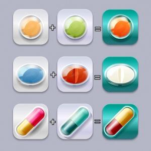 Medical pills set