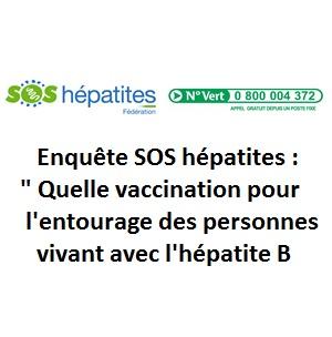 Enquête SOS hépatites : quelle vaccination pour l'entourage des personnes vivant avec l'hépatite B ?